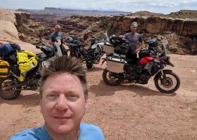 white rim road selfie