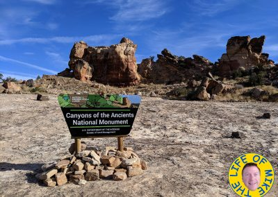 Canyons of the Ancients National Monument sign