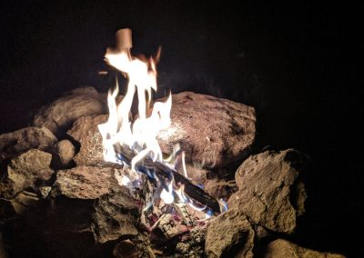Campfire above Pagosa Springs