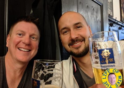 Kuba and me at Augustiner-Bräu in Munich