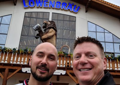 Kuba and me in front of Löwenbräu tent at Oktoberfest