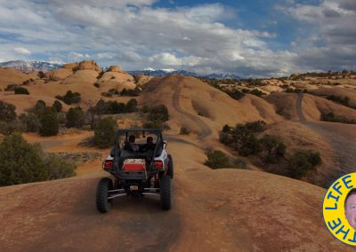 Fins and Things trails with La Sal Mountains