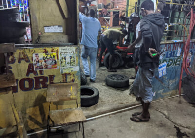 Jamaican Tire Repair Shop