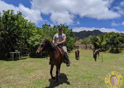 Ridng horses in Nuku Hiva